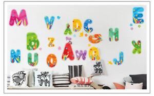 Wandtattoo-Wandsticker-Wandaufkleber-Kinderzimmer-Buchstaben-Lernen-50-x-70-W214