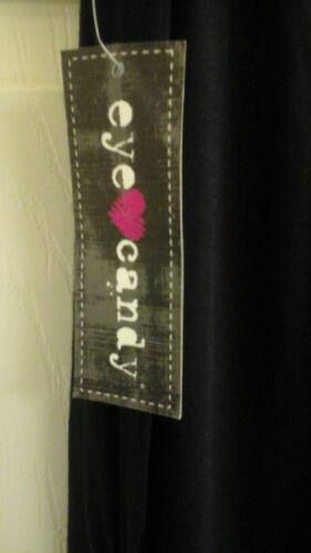 Women/'s plus size 3X black Pants Slit Leg Drawstring elastic... Eye Candy