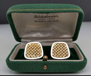 Bescheiden Manschettenknöpfe 585er Gold Albrecht & Keppler Cufflinks White Weissgold Box Herausragende Eigenschaften