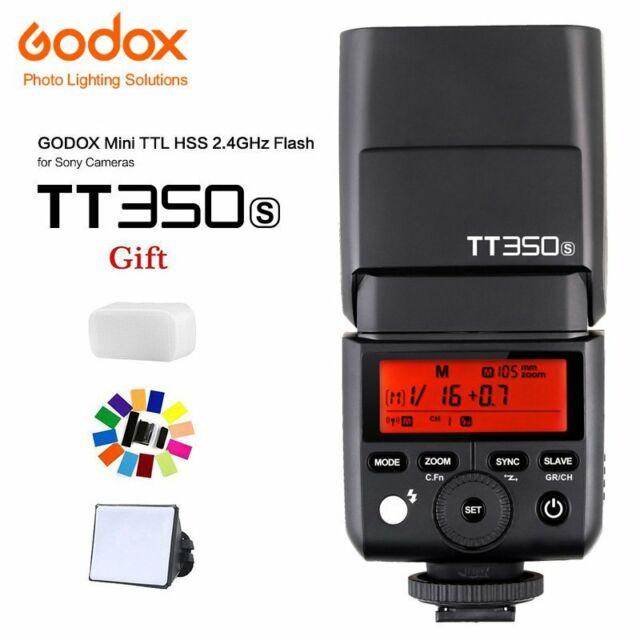 Godox TT350S GN36 2.4G TTL HSS Flash Speedlite for Sony Mirrorless Camera + GIFT