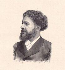 Portrait XIXe Louis Octave Uzanne Auxerre Yonne Bibliophilie