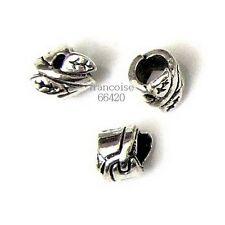 10 Intercalaires spacer Gros trou 8x6x6mm Perles apprêts création bijoux _ A298