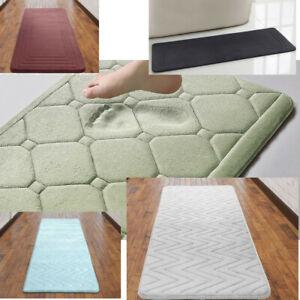 Memory Foam Pebbles Embossed Nonslip Soft and Absorbent Plush Large Bath Mat
