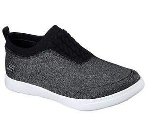 Skechers Womens Memory Foam Millennial Light Storm Slip On Black/White 23539/BKW