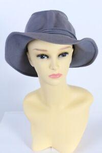 Vintage-Trilby-Hat-1980S-Classics-Ladies-100-Wool-Light-Blue-HAT567