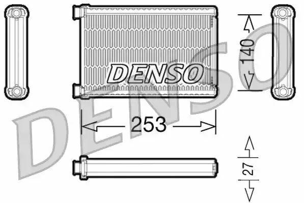 1x denso Calentador Núcleo DRR05005 DRR05005