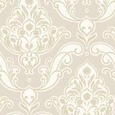 Rasch - Gatsby Damask & Floral Motif - Gold & Beige - Glitter Wallpaper 319613