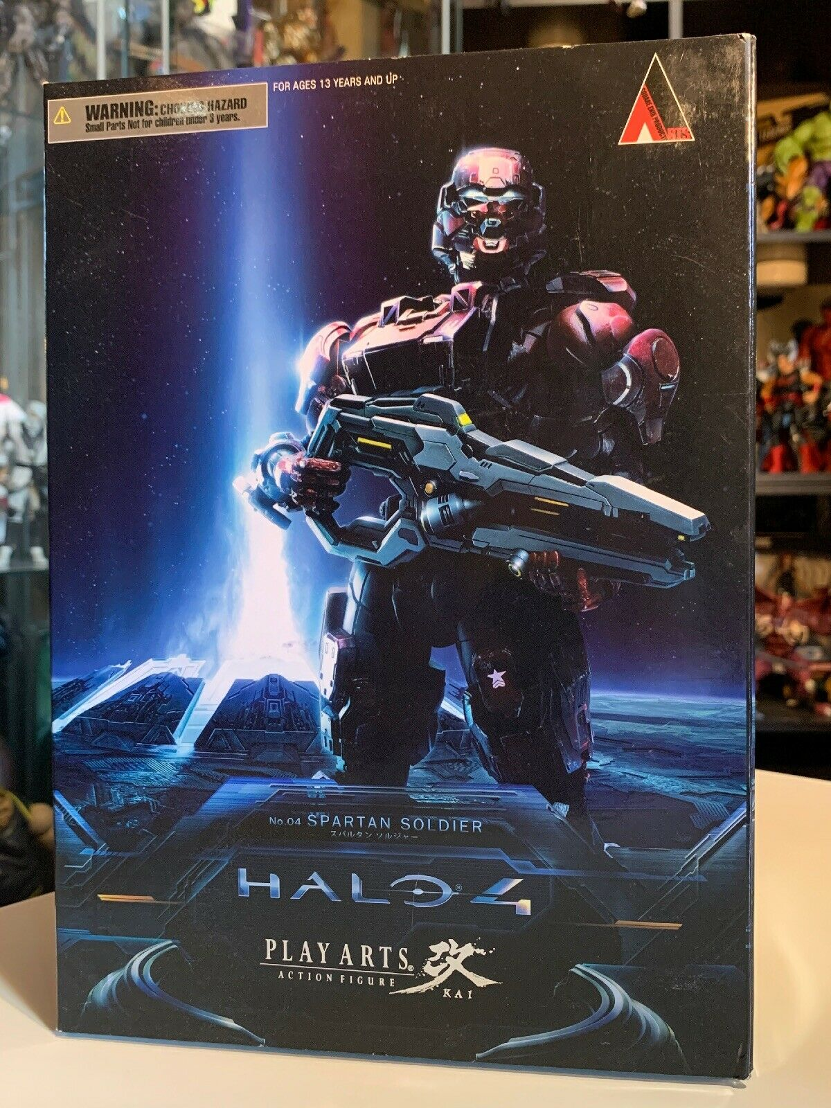 HALO 4 Play Arts Kai No.4 SPARTAN SOLDIER  Square Enix Pre-owned