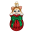 thumbnail 1 - Old World Christmas LETTING THE CAT OUT OF THE BAG (12370)N Glass Ornament w/Box
