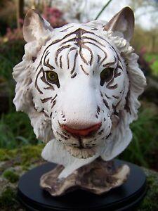 Pw78349 Buste Figurine Statuette Statue Tigre Blanc Exldbnzi-07224820-850761117