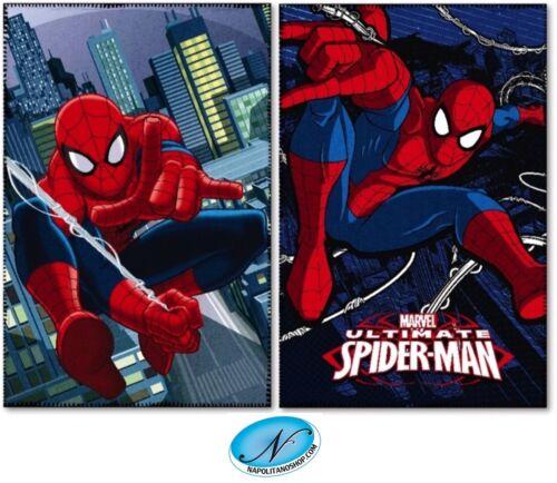 Blanket Cover Baby Child Plaid Fleece Original Marvel Spiderman Spiderman