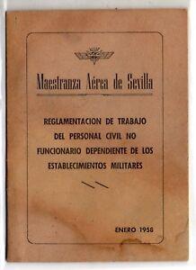Espana-Maestranza-Aerea-de-Sevilla-Reglamentacion-de-Trabajo-ano-1958-DV-166