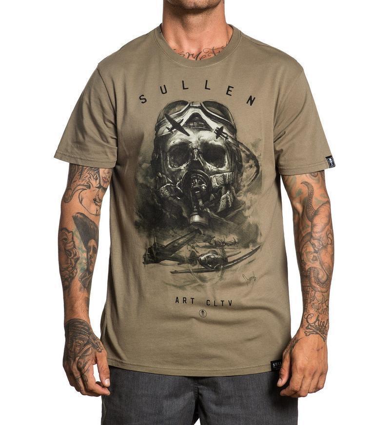 Sullen Clothing Art CLTV Air Fight Skull Military Adult Mens T Tee Shirt SCM1633