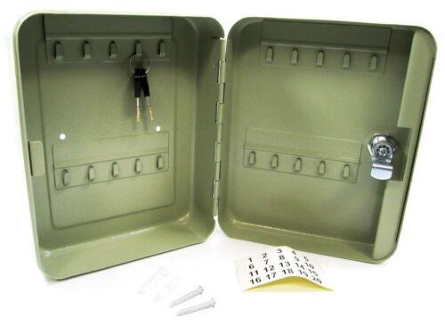 Lockable Key Cabinet Holder 20 Hook Metal Storage Comes With 2 Keys HW139