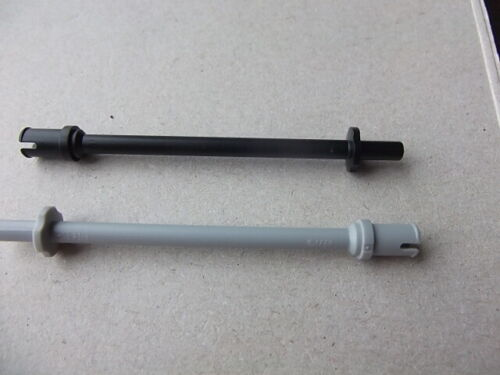 Lego 2714 Ski pole Bar 7.6L with stop with flat end x1
