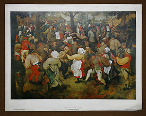 Image Is Loading Pieter Bruegel The Younger Vintage Original Wedding Dance