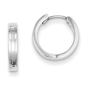 925-Sterling-Silver-Rhodium-Plated-Polished-2-7mm-x-12mm-Hinged-Hoop-Earrings