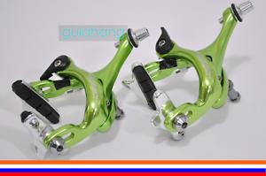 VANGUARD Dual Pivot  Road Bike C-Brake Calipers Set F&R w pad - Green  100% fit guarantee