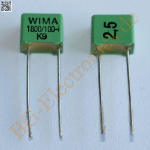25 x 1800pF 1.800nF  100V FKP-2 RM5 Folien Kondensator Capacitor  WIMA  25pcs