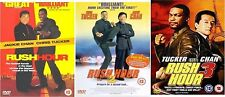 RUSH HOUR Trilogy DVD Collection Set Part 1 2 3 All Movies Films Martial Arts