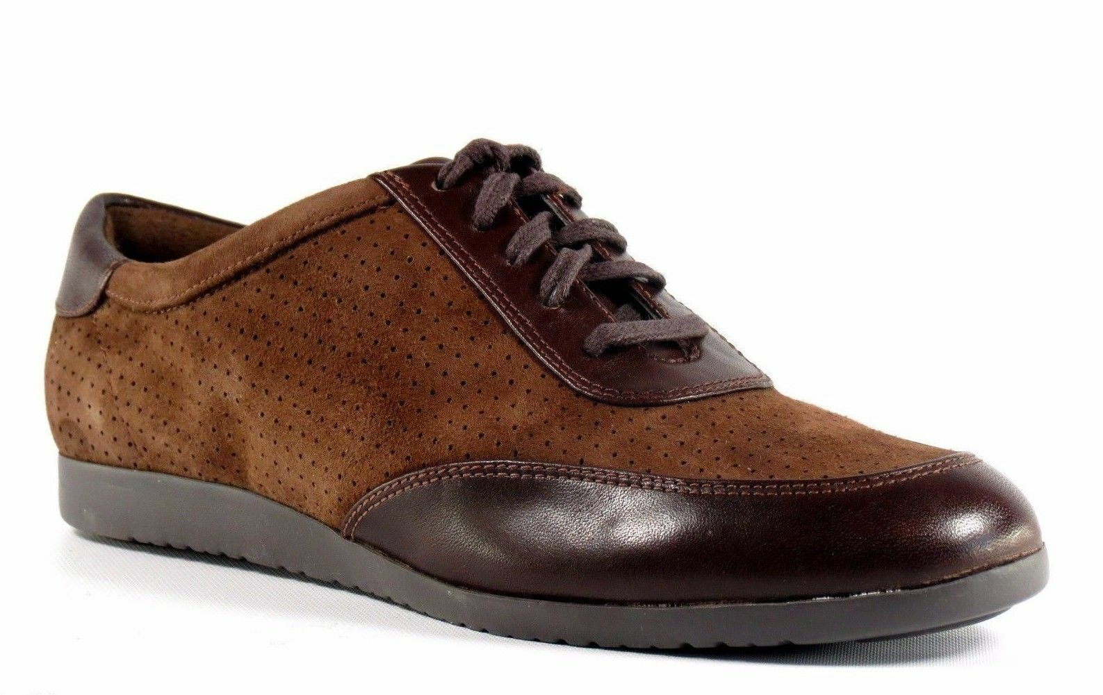 Cole Haan Gilmore Oxford MARRON Perforé Daim Cuir à Lacets Chaussure 8