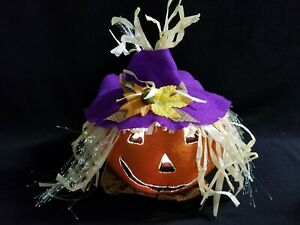 Fiber-Optic-Electric-Lighted-Jack-o-Lantern-Pumpkin-Scarecrow-Witch-Halloween