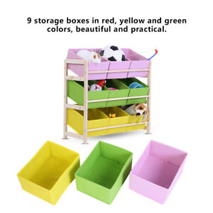 Image Is Loading Kids Storage Organizer Toy Box Bed Play Room