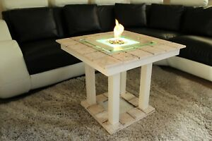 Image Is Loading Solid Coffee Table Fire Pit Led Bio
