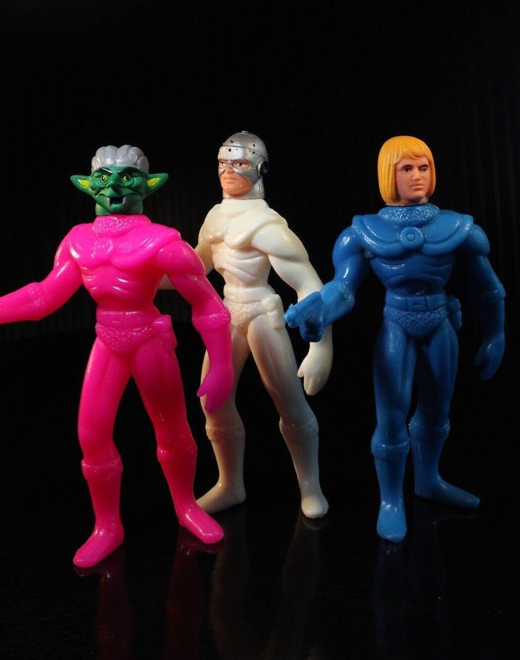 3 STRIKE FIGHTER ASSAULT ASSAULT ASSAULT TANK MOTU Flash Gordon KO BOOTLEG Galaxy Warriors Vinyl ea2279