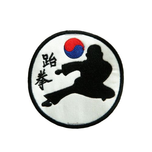 "New Taekwondo Kick Patch with /""Taekwon/"" for Taekwondo Uniform TKD Kick-PAT18"