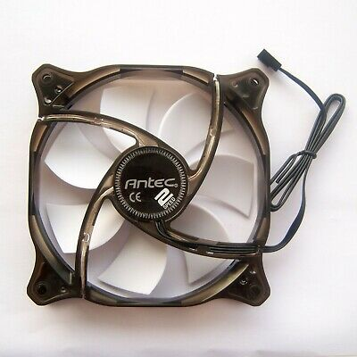 Antec 120mm PC Case Fan White LED Cooler 12025 3 Pin Cooling Quiet 12V 12cm F33