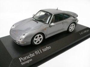Rare Minichamps Porsche 911 993 Turbo Steingrau Gris Métallisé 1:43 Etat neuf 1/1444