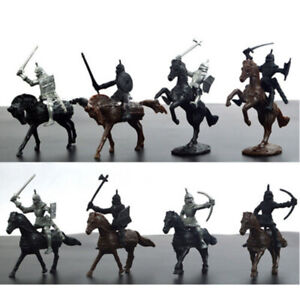 28PCS-Soldier-Model-Medieval-Knights-Warriors-Figures-Playset-Culture-Useful