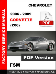 2007 corvette factory service manual