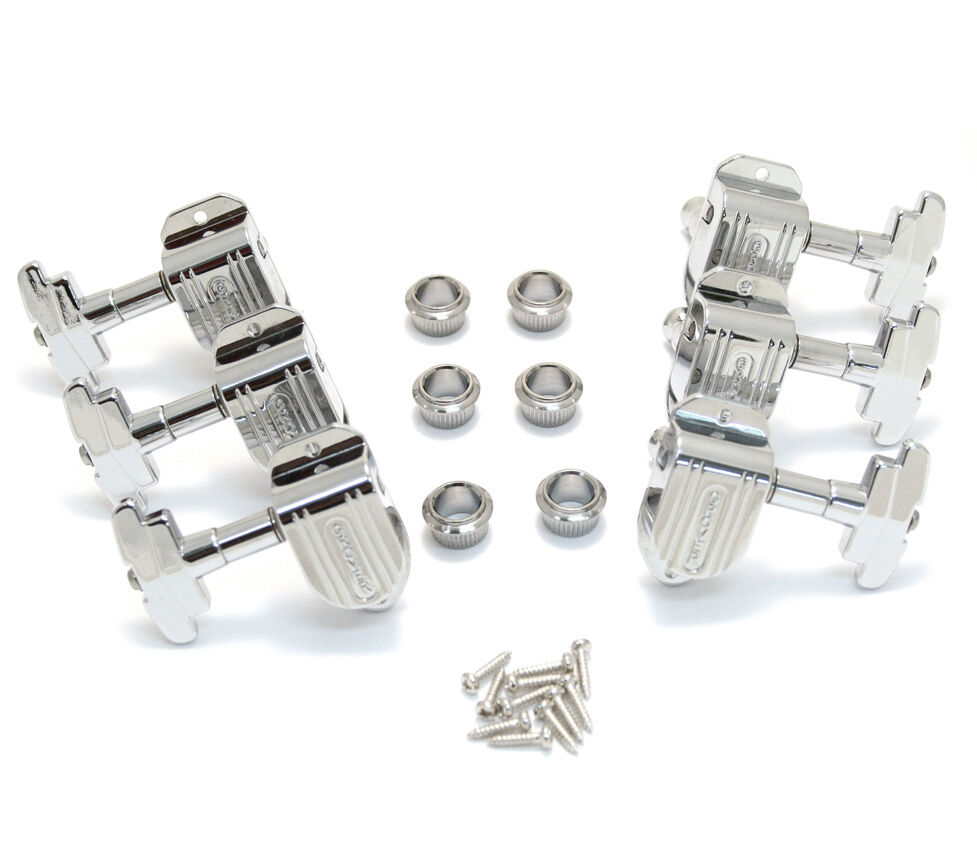 Grover Chrome 3+3 Imperial Tuners for Jazz/Archtop Guitar 150C