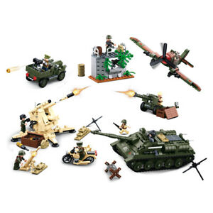 Sluban-WWII-Battle-of-Kursk-M38-B0697-998-pieces-toy-brick-german-flak