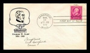 DR-JIM-STAMPS-US-EDUCATOR-CHARLES-ELIOT-FAMOUS-AMERICANS-FDC-COVER-SCOTT-871