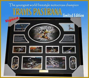 TRAVIS-PASTRANA-MOTOCROSS-CHAMPION-SIGNED-FRAMED-LIMITED-EDITION-FINAL-A-FEW