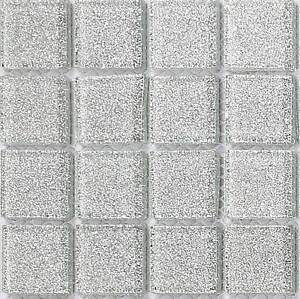 Silver Glitter Gl Mosaic Tiles Feature Wall Splashback Borders