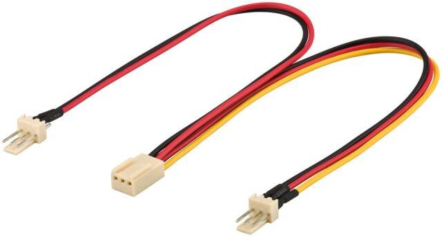Lüfter Adapter Kabel 4 PIN Molex auf 4x 3 PIN 2x 5 Volt + 2x 12 Volt 0,15m