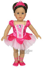"""CLEARANCE Hot Pink Ballet Recital Outfit fits 18"""" American Girl Doll Clothes"""