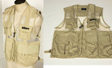 Nikon Photo Vest Official Jacket muti-pockets Size L M D800 18-35mm Body NEW USA