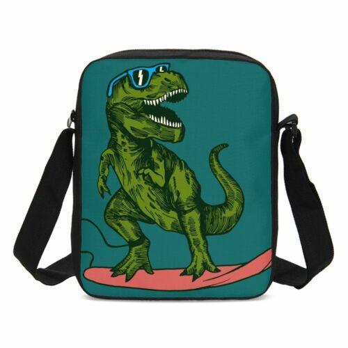 Dinosaur Surfer Sunglass Backpack Insulated Lunch Bag Pen Case Shoulder Bag Lot