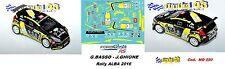 DECAL  1/43 -  FORD  FIESTA R5  - BRC -  BASSO - Rally ALBA   2016