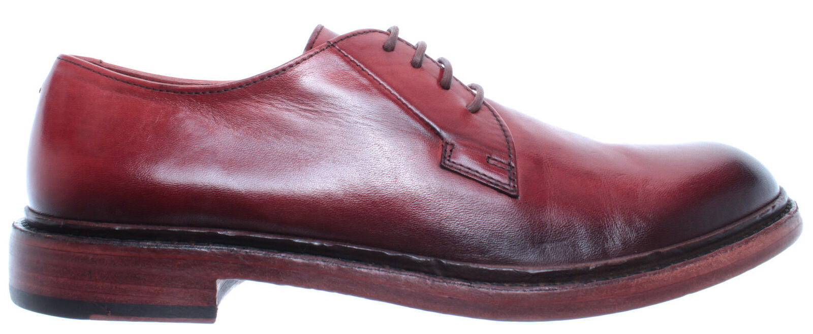 PANTANETTI Men's shoes 12553G Illium Leather Red Made In In In  New 7100c0