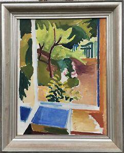 Arne-Nilsson-1925-views-in-the-Garden-grunwaldt-Student-expressive-75-x-60