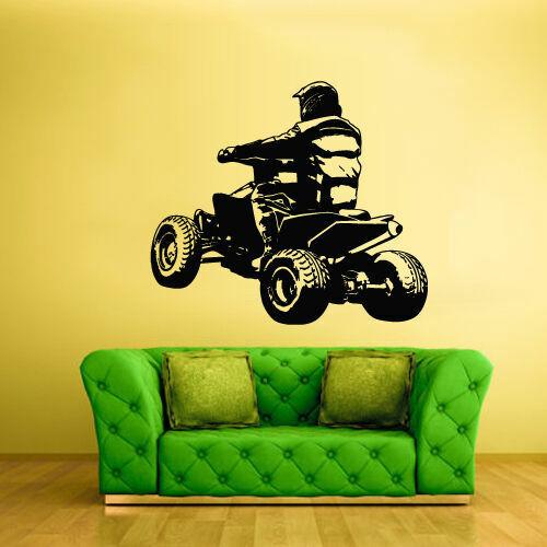 Z2366 Wall Vinyl Sticker Bedroom Decal Quad Chopper Moto Motorcycle ATV