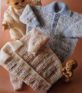 Baby Boy Girl Children Sweater Cardigan Vintage Knitting Pattern 18