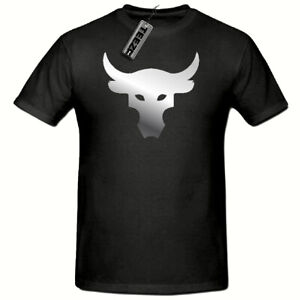 Brahma-Bull-tshirt-The-Rock-Project-Gym-Mens-T-shirt-Silver-Slogan-tshirt