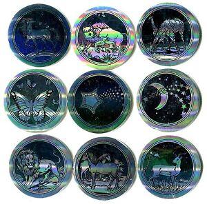 POGS-H-HOLOG-9-001-Lot-de-9-Pogs-HOLOGRAM-SLAMMER-WHAMMERS-Argentes-colorises